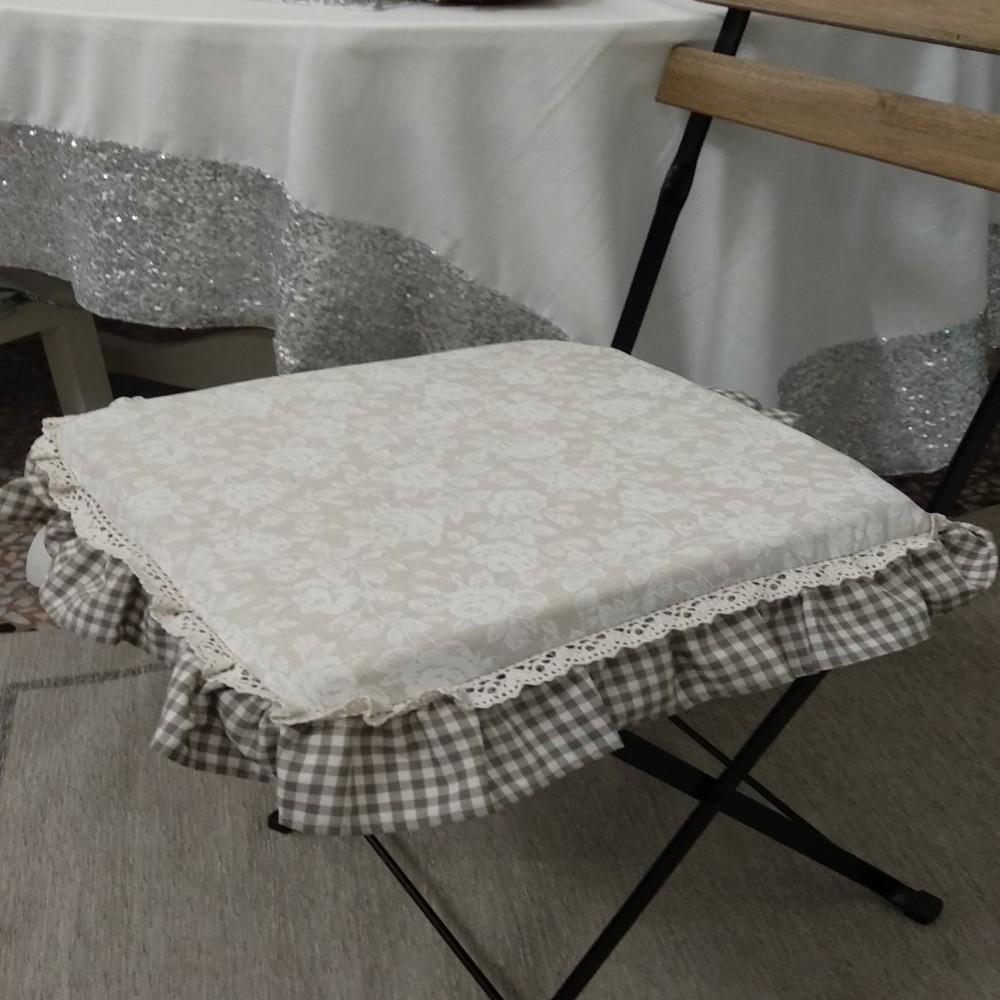 Cuscini Per Sedie.Cuscino Per Sedia Quadrato Fiore Federighi Forniture